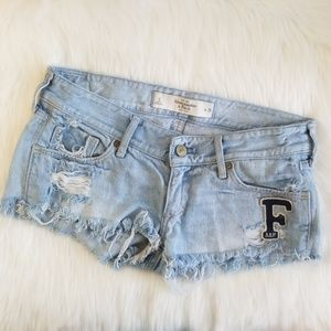 EUC Abercrombie & Fitch Denim Shorts with Patch